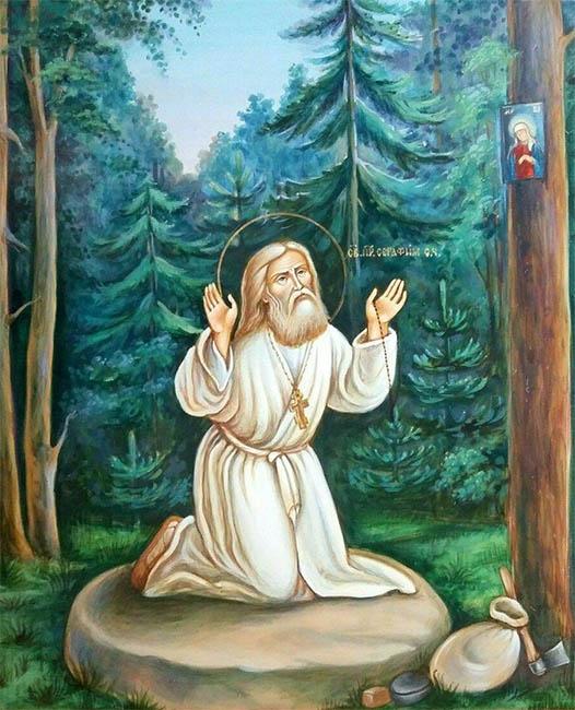 Моление на камне Серафима Саровского