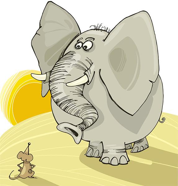 Мышонок и слон