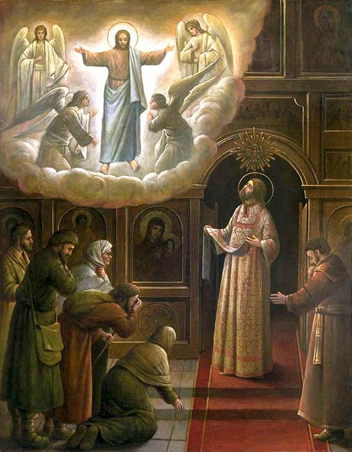 Явление Господа Иисуса Христа иеродиакону Серафиму