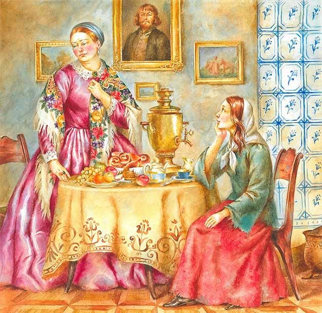 Блаженная Ксения и купчиха Крапивина