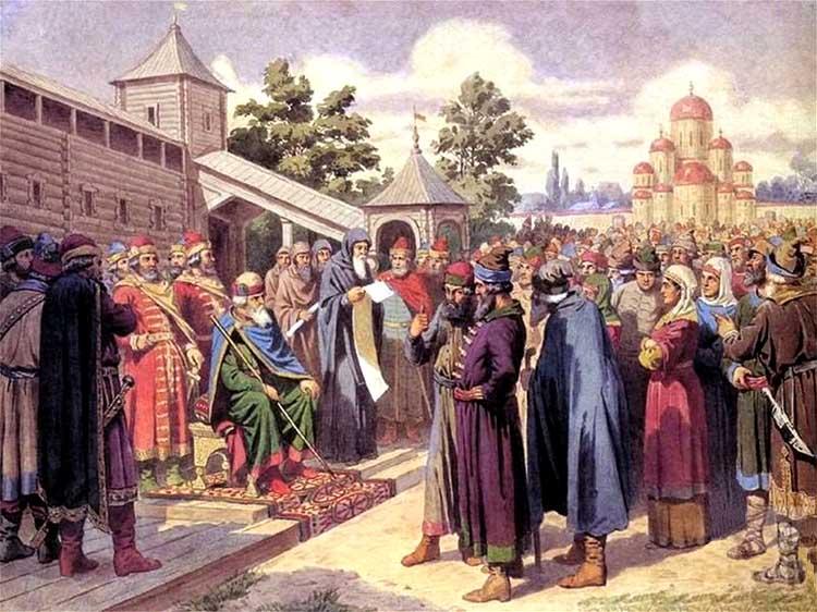 Чтение народу Русской Правды в присутствии великого князя Ярослава