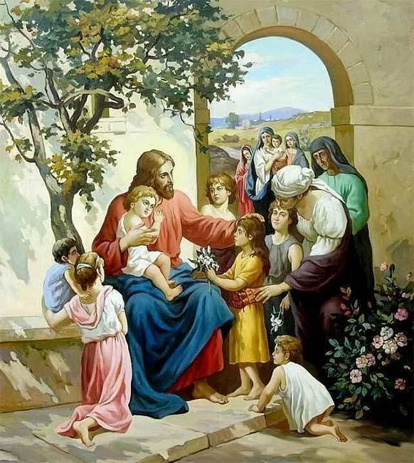 Иисус Христос с детьми