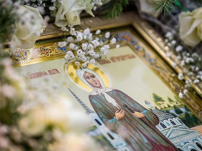 Икона блаженной Ксении в храме