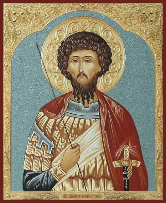 Икона Святой великомученик Федор Стратилат