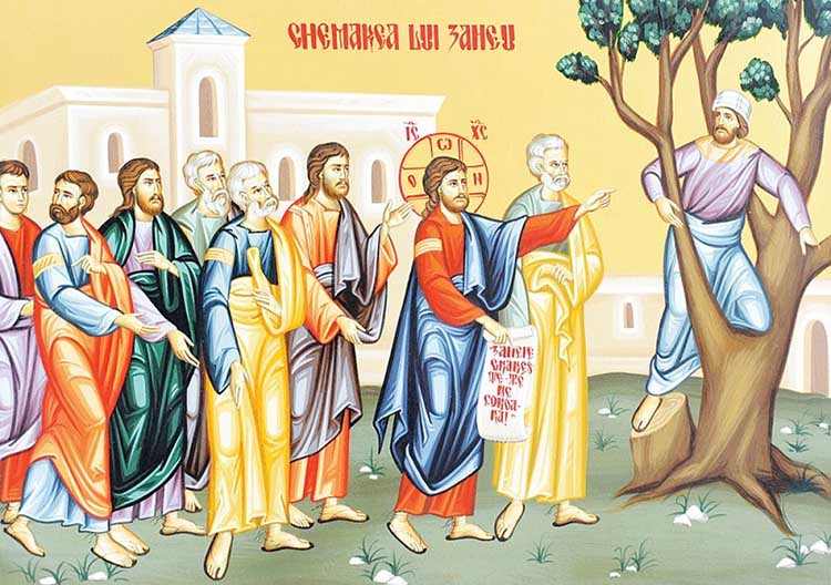 Мытарь Закхей и Иисус Христос