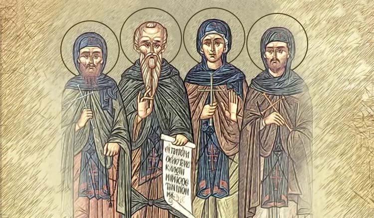Преподобные Ксенофонт и Мария, сыновья их Иоанн и Аркадий