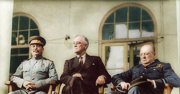 Рузвельт, Черчилль и Сталин