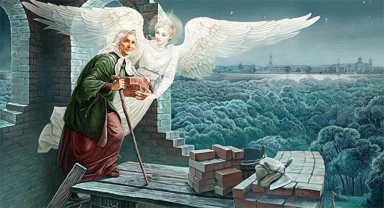 Святая блаженная Ксения помогает строить храм