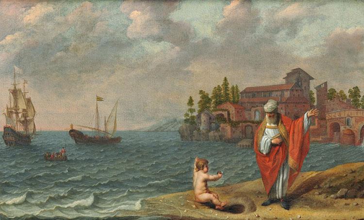 Святой Августин на берегу моря