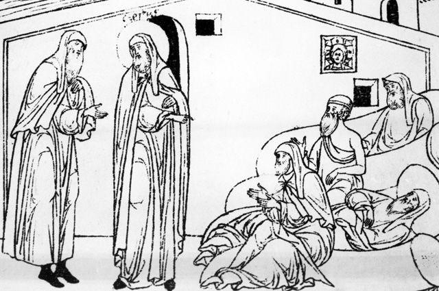 Больница при монастыре на Руси