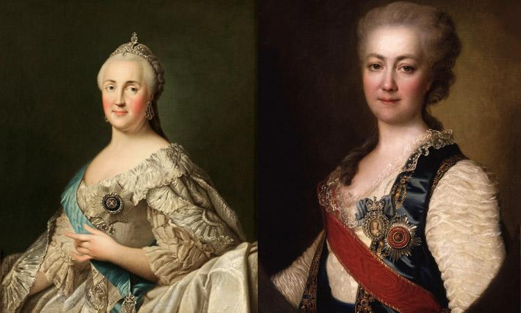 Екатерина Великая и Екатерина Дашкова