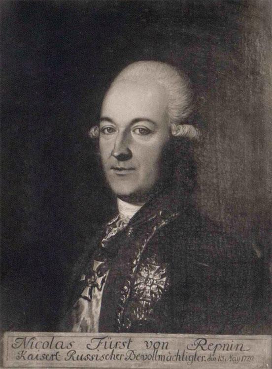Князь Репнин в 1779 году