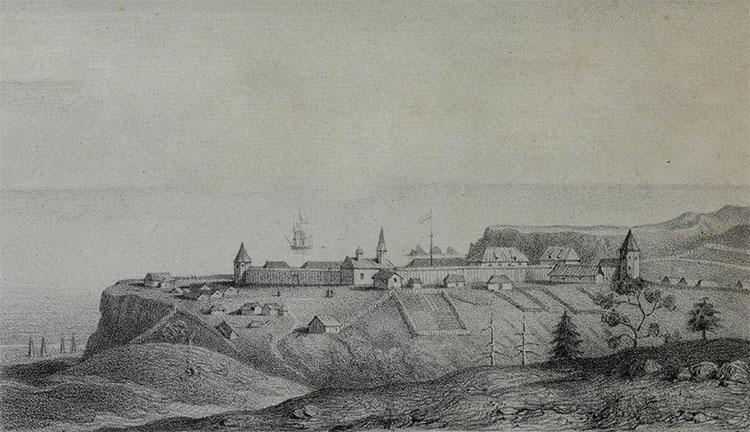 Крепость Росс в 1828 году