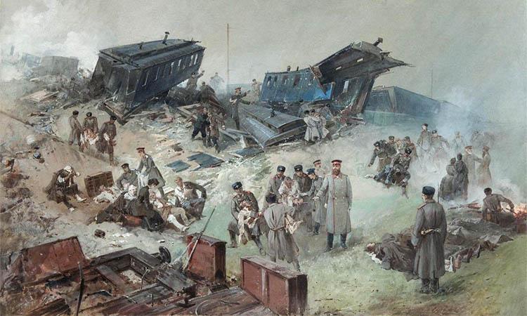 Крушение императорского поезда у станции Борки под Харьковом