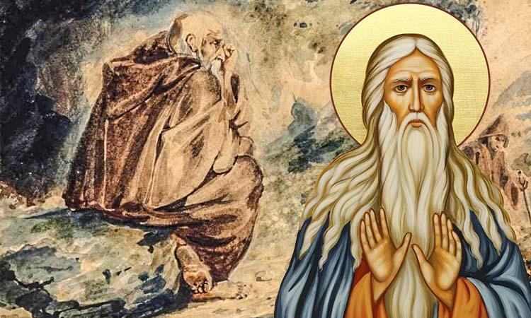 Монах-пустынник и преподобный Макарий