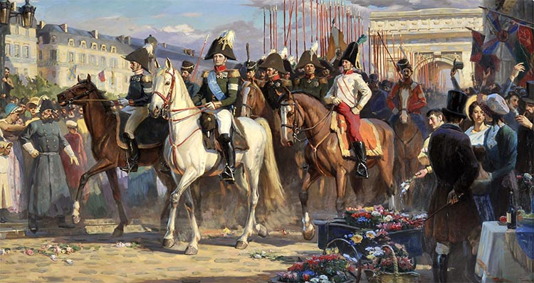 Парад русских войск в Париже 1814