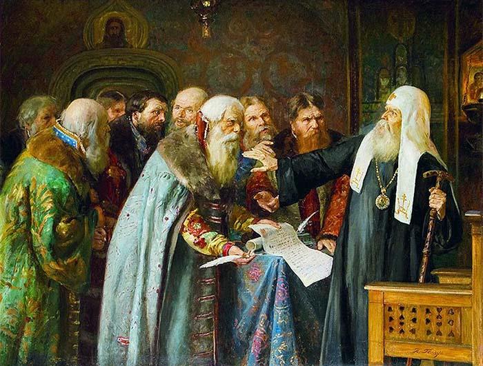 Патриарх Ермоген отказывается подписывать грамоту о роспуске ополчения