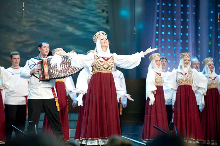 Выступление хора Пятницкого