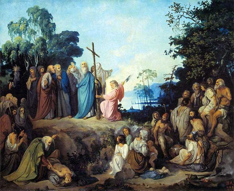 Апостол Андрей Первозванный водружает крест на горах Киевских