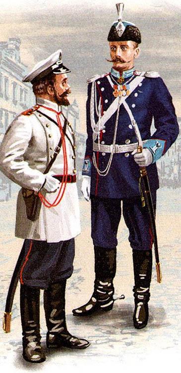 Городовой и ротмистр Отдельного корпуса жандармов