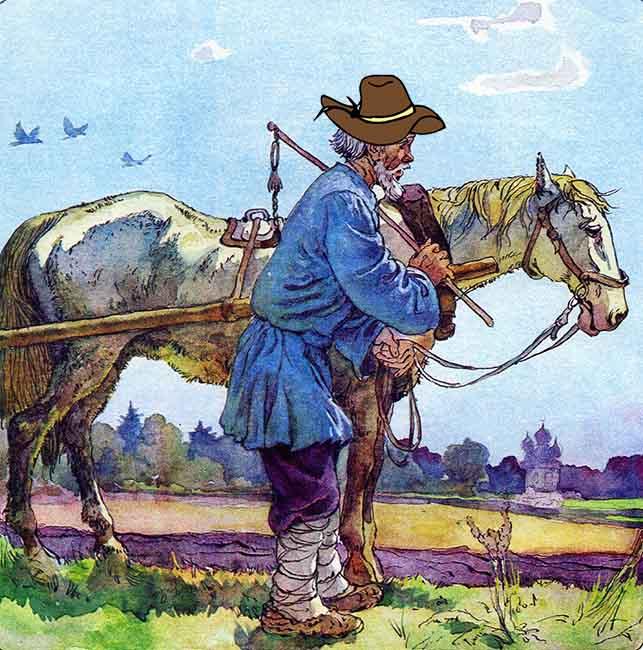Крестьянин с лошадью