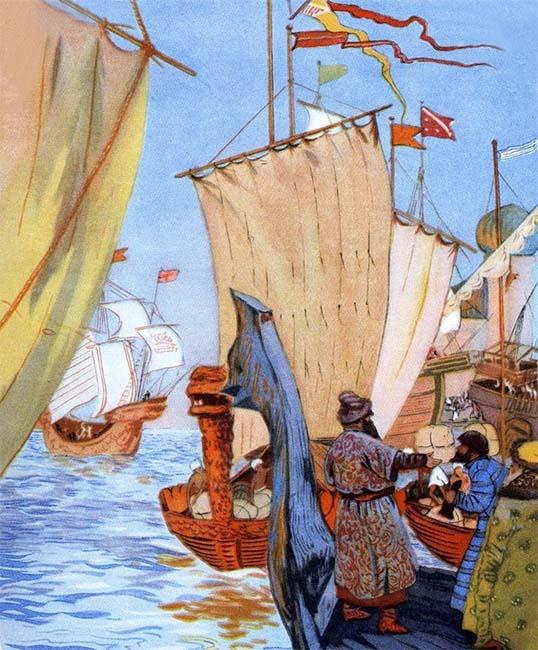 Купец на корабле