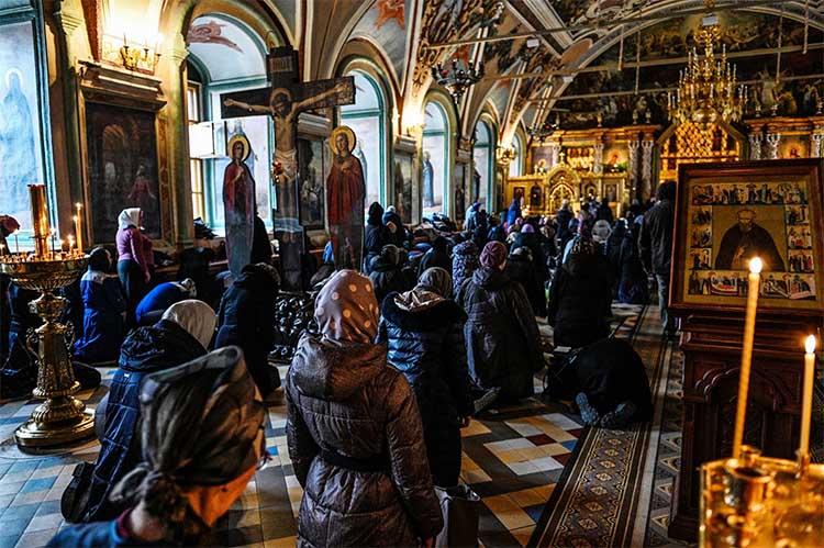 Литургия Преждеосвященных Даров в Троице-Сергиевой лавре