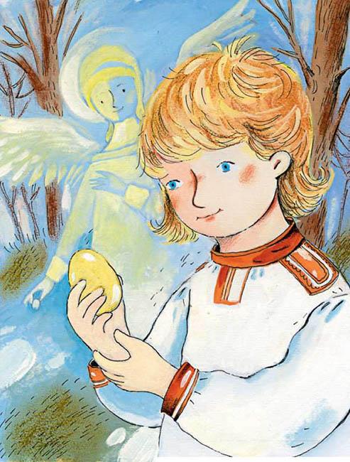 Мальчик с пасхальным яйцом