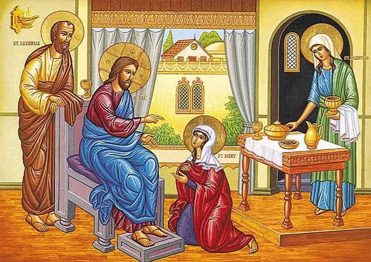 Марфа и Мария и их брат Лазарь