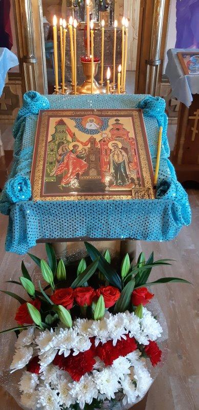 Праздничная икона Благовещения Пресвятой Богородицы