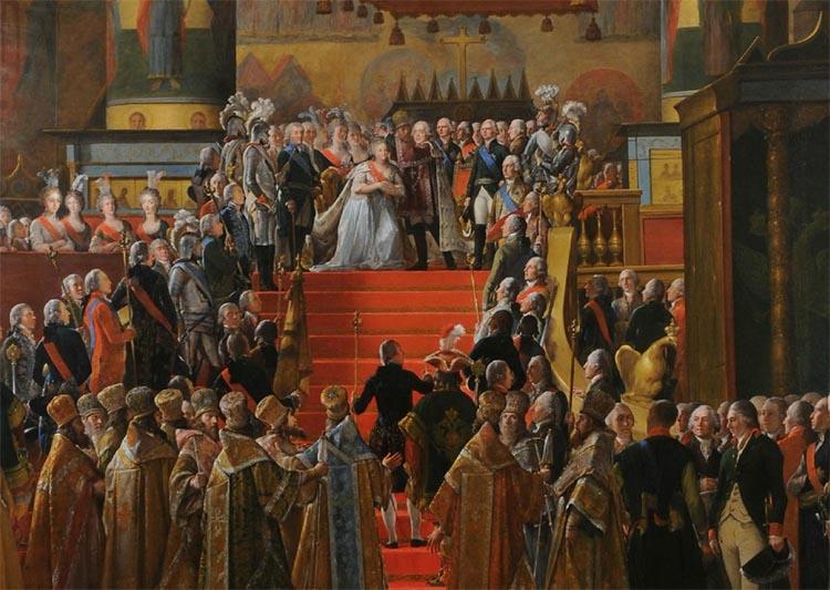 Церемония коронации Павла I