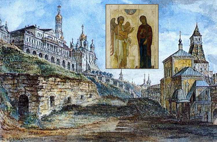 Церковь Благовещения на Житном дворе и икона Благовещения