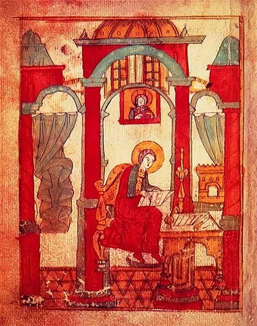 Ученик Василия пишет его Житие