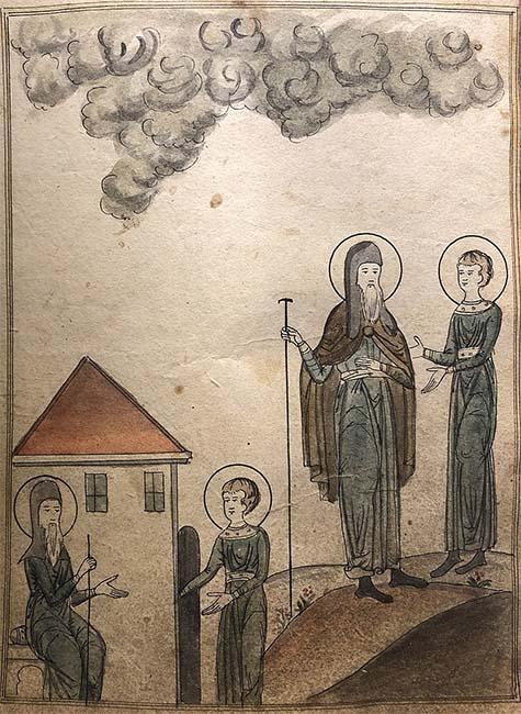 Василий Новый с учеником Григорием
