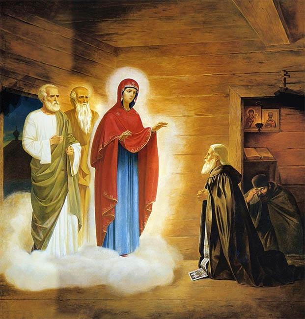 Явление Богородицы преподобному Сергию Радонежскому