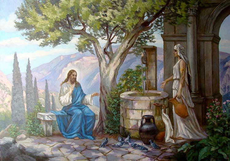 Христос и самарянка у колодца