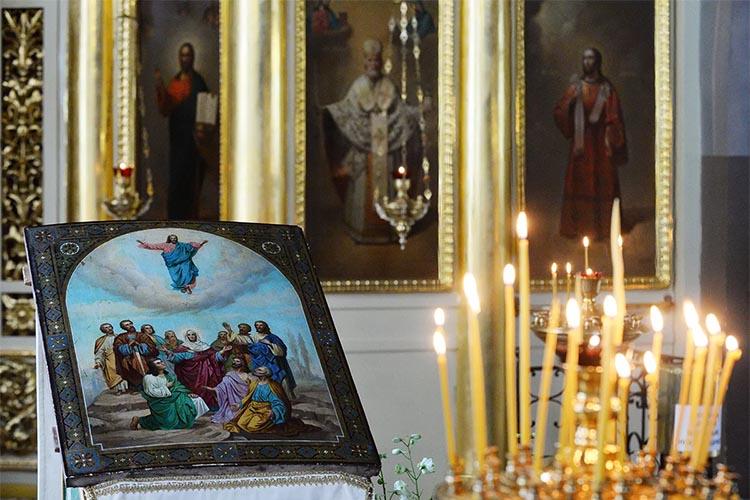 Икона Вознесения Господня в храме