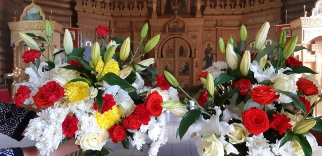 Цветы к святыням!