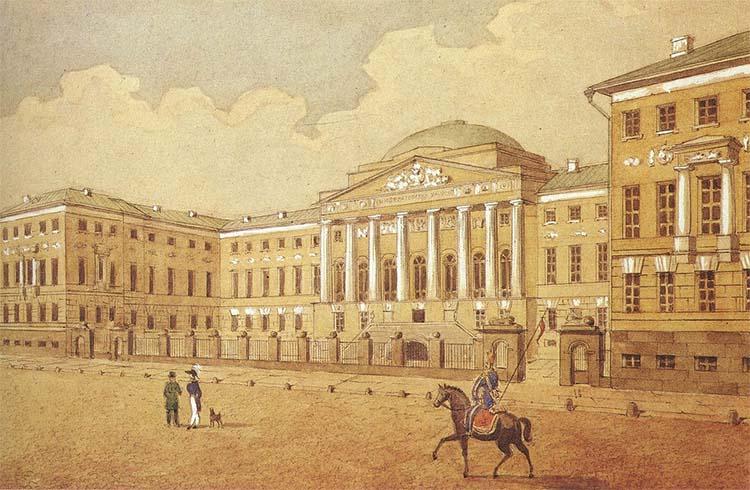 Университет в 1820 году
