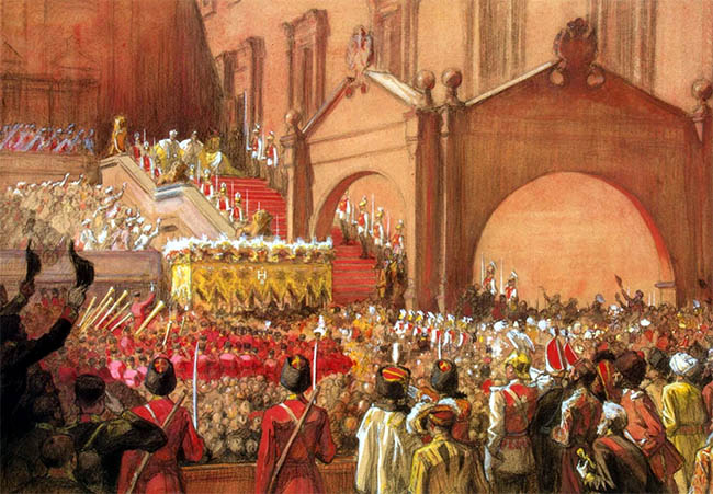 Выход императора Николая II после коронации на Красное крыльцо