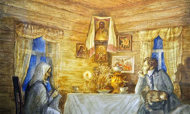 Александр Сергеевич и Арина Родионовна