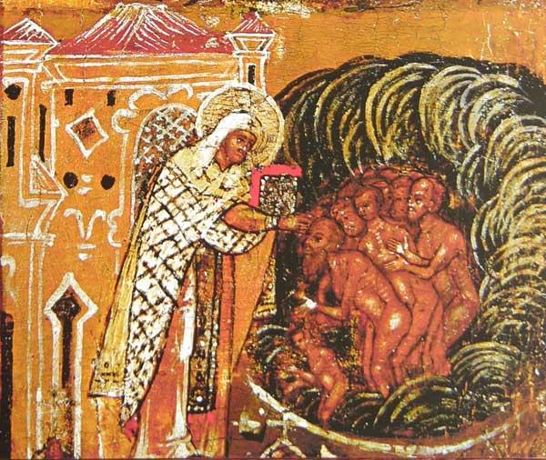 Крещение святителем Леонтием народа Ростовского
