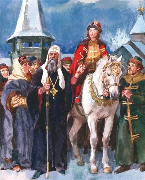 Митрополит Алексий и Дмитрий Донской