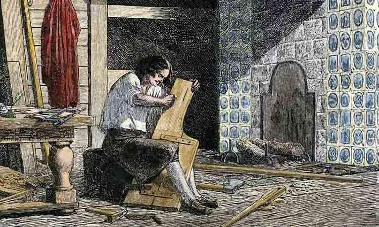 Петр I в мастерской