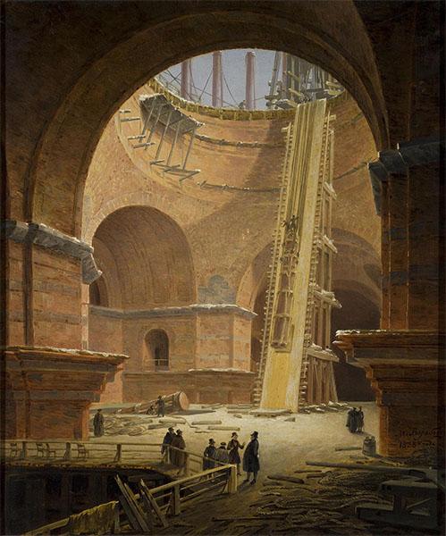 Подъём колонны на Исаакиевский собор