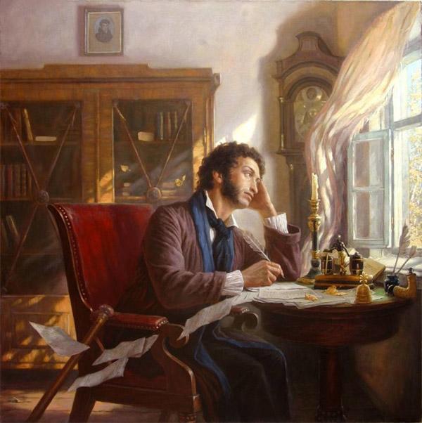 Пушкин за столом