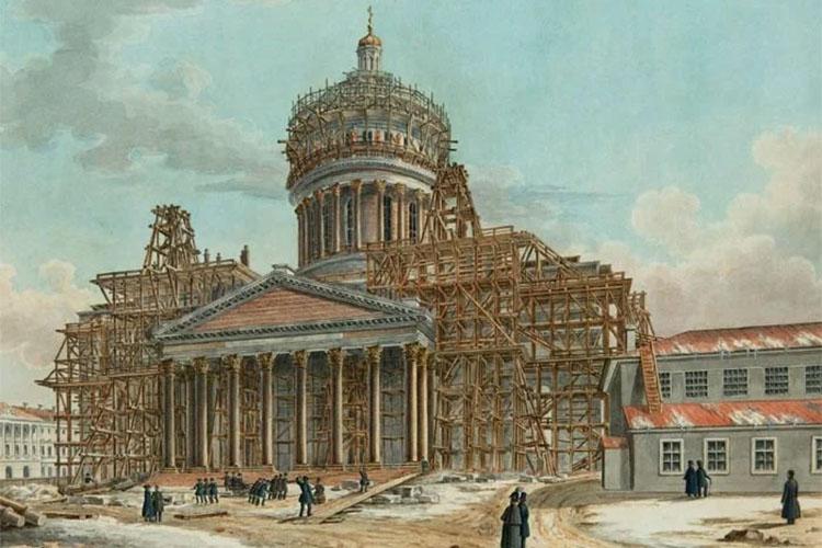 Строительство Исаакиевского собора