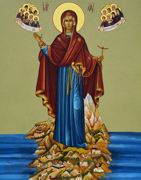 Афонская (Игуменья Святой горы) икона Божией Матери