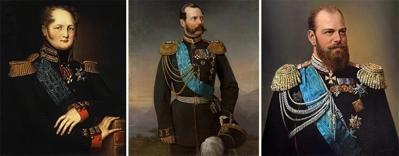 Александр I, Александр II, Александр III