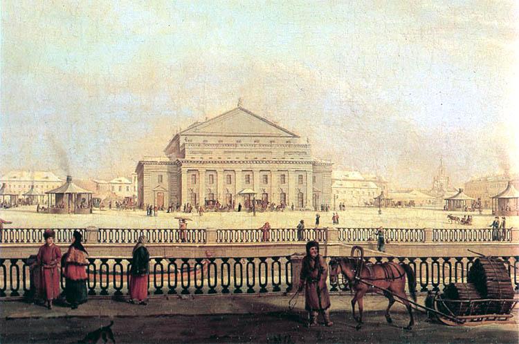 Большой (Каменный) театр в Санкт-Петербурге в 1790 году